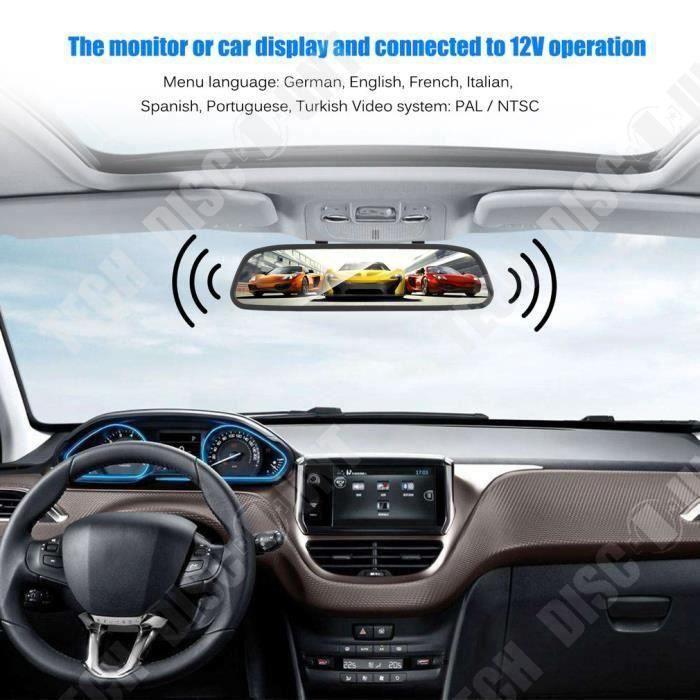 TD® Rétroviseur Auto + Caméra de recul - Vision nocturne - 4.3 -Sans fi l - Accessoire automobile de stationnement