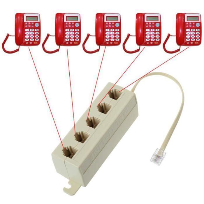 TELEPHONE FIXE - PACK TELEPHONES 1 x répartiteur téléphonique RJ11