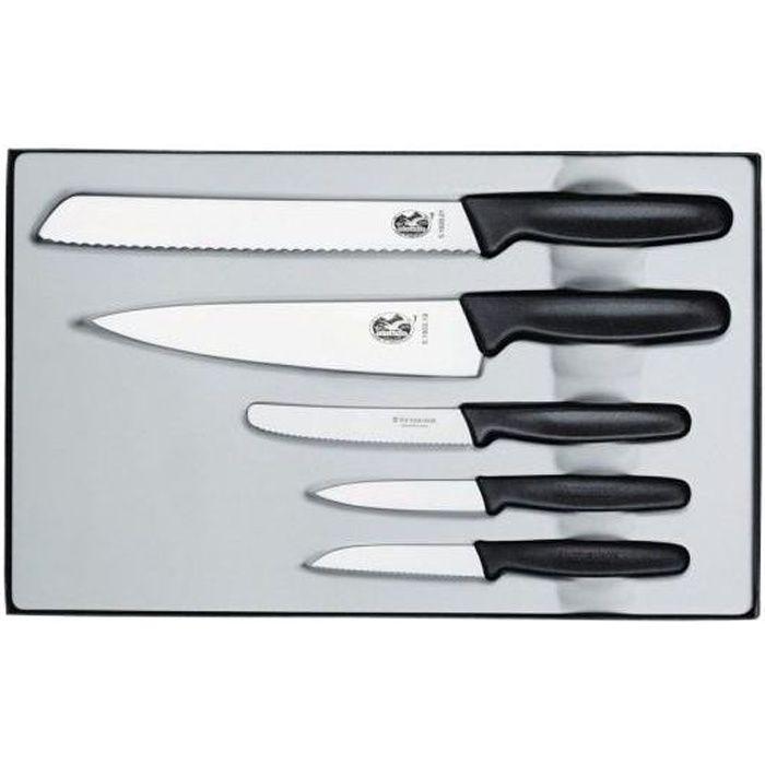 Coffret 5 couteaux Victorinox Manche noir