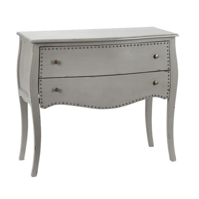 Commode grise tiroirs clout s achat vente commode de chambre commode gris - Commode grise 6 tiroirs ...