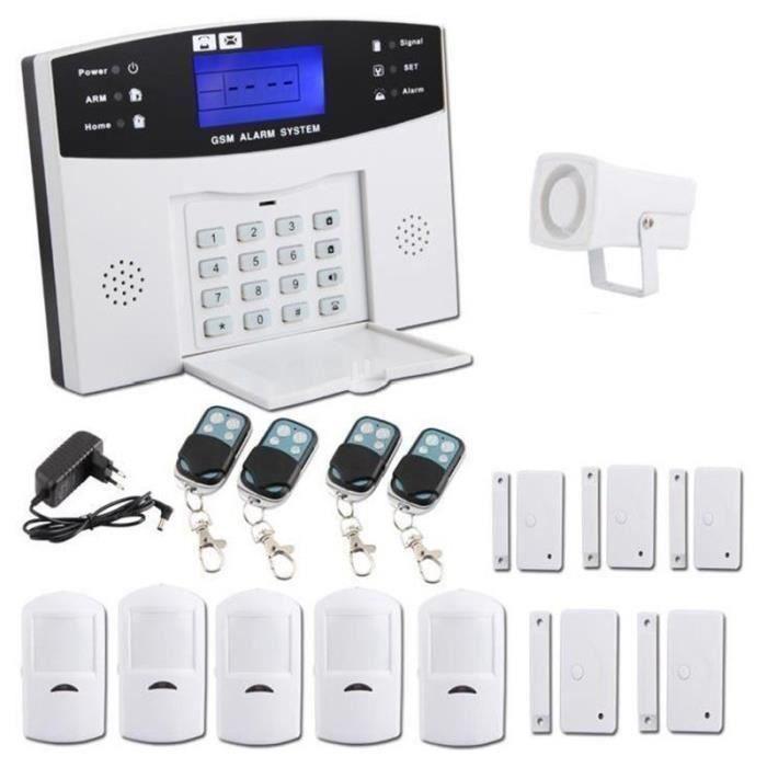 Kit alarme maison sans fil GSM auto appel téléphonique antivol maison