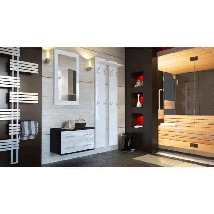 ensemble de meubles d 39 entr e noir et blanc achat vente meuble d 39 entr e ensemble de meubles d. Black Bedroom Furniture Sets. Home Design Ideas