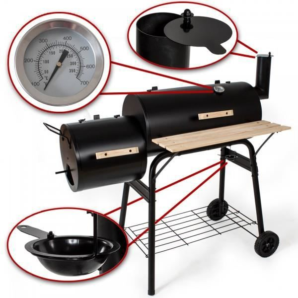 barbecue smoker am 233 ricain charbon a bois fumoir achat vente barbecue barbecue smoker