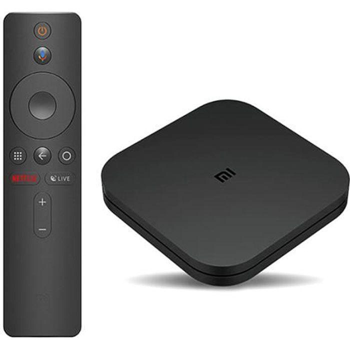 XIAOMI/MI TV BOX S - Android 8.1 TV 4K HDR - Accès direct Netflix - Noir Nouvelle version EURO