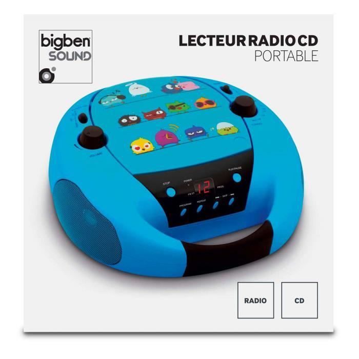 lecteur radio cd portable bleu noir decor oizo radio cd cassette avis et prix pas cher. Black Bedroom Furniture Sets. Home Design Ideas