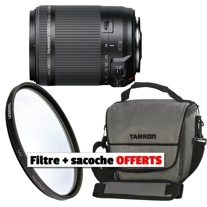 tamron 18 200 mm nikon sac et filtre offerts achat. Black Bedroom Furniture Sets. Home Design Ideas