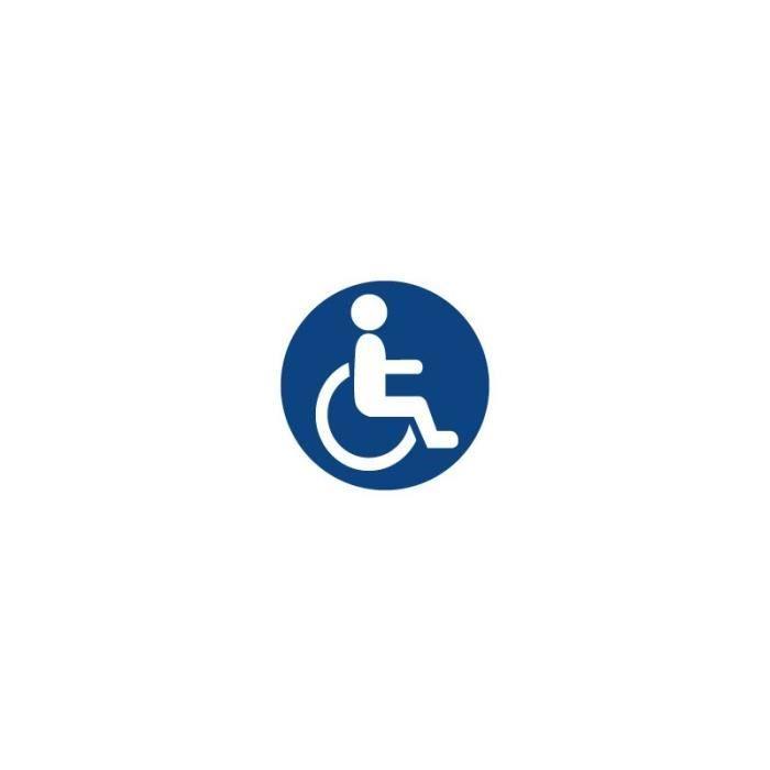 Autocollant Handicap/é Sticker Handicap Carr/é Bleu 20 cm // 20 cm