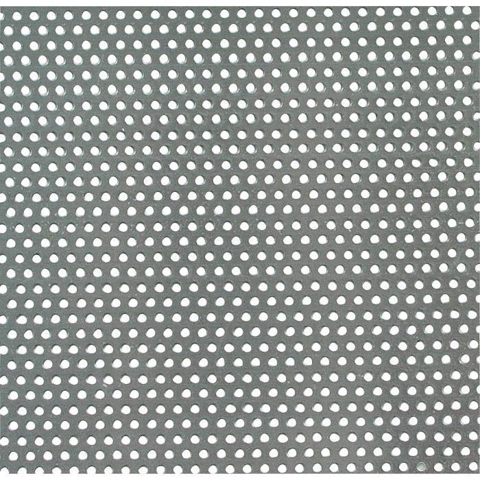250 x 500 x 0,8 mm anodis/é Argent GAH-Alberts 466947 T/ôle Perfor/ée Ronde Aluminium