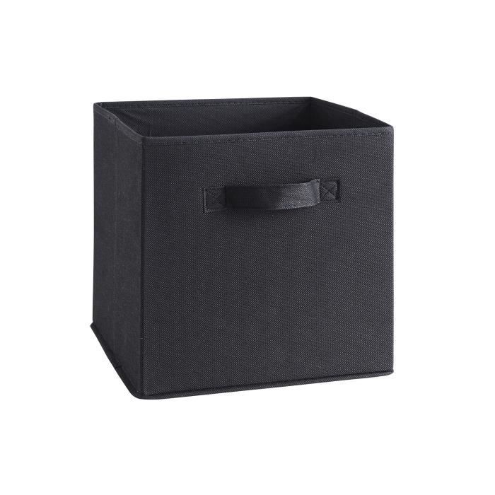 compo tiroir de rangement tissu noir 27x27x28 cm achat. Black Bedroom Furniture Sets. Home Design Ideas