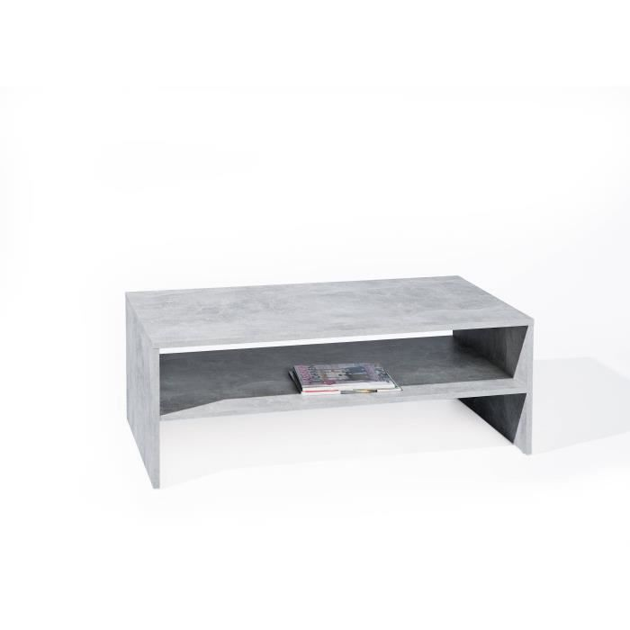 Table Basse Beton 5 1 Table Rectangulaire Salon Salle A Manger Gris