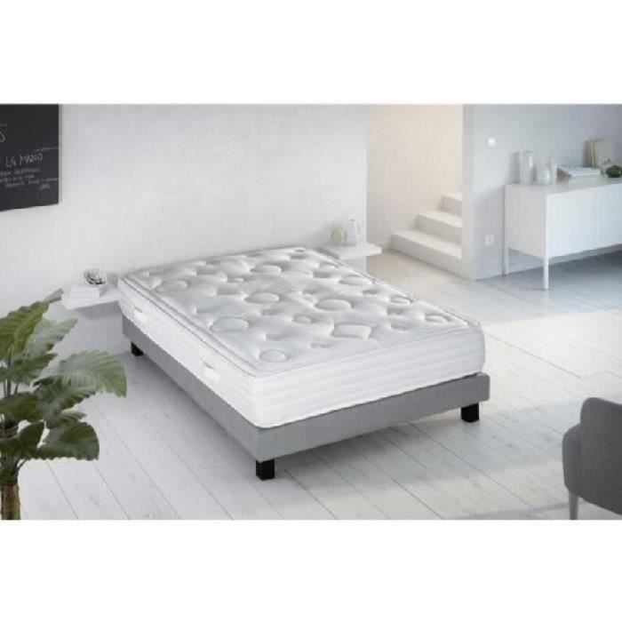visco confort ensemble sommier matelas 160x200 ressorts equilibr 1064 ressorts 2. Black Bedroom Furniture Sets. Home Design Ideas