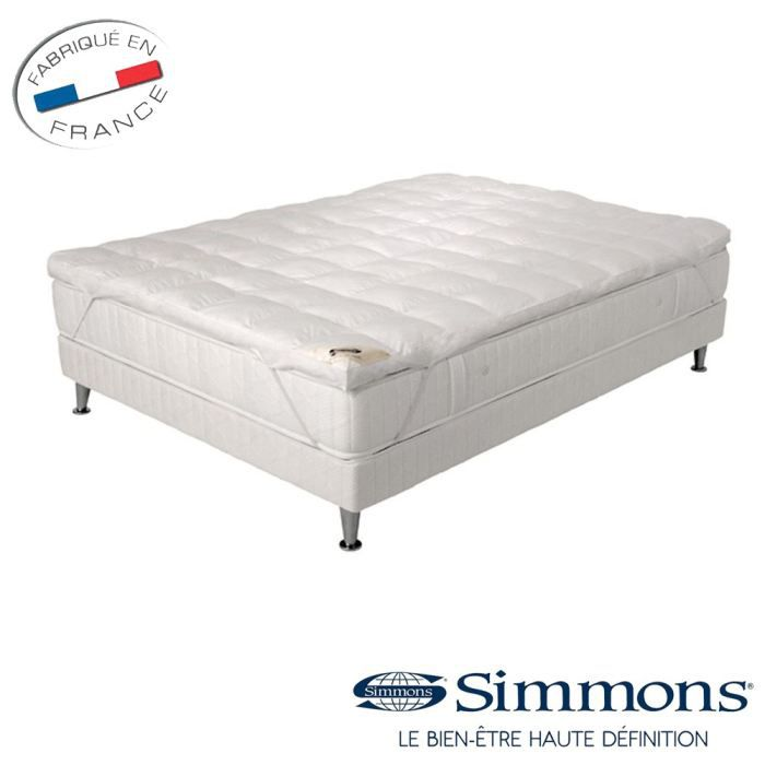 simmons sur matelas de confort 180x200cm achat vente. Black Bedroom Furniture Sets. Home Design Ideas