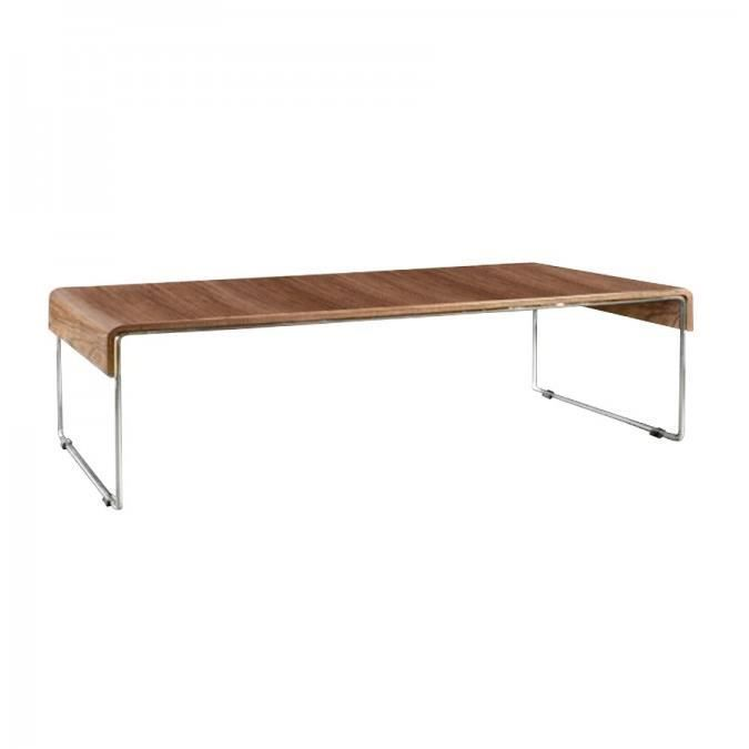 Table basse de salon jug 120cm placage noyer achat vente table basse - Table salon cdiscount ...