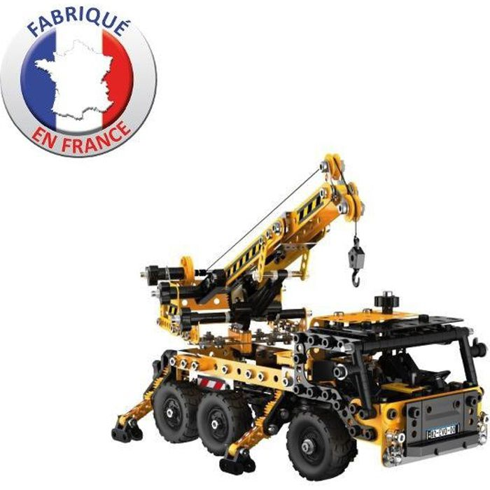 meccano evolution construction camion grue achat vente assemblage construction cdiscount. Black Bedroom Furniture Sets. Home Design Ideas