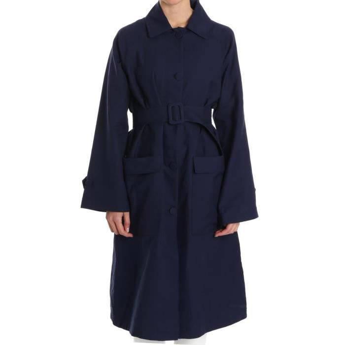 BASKET GOLDEN GOOSE FEMME G32WP067A1 BLEU COTON TRENCH CO