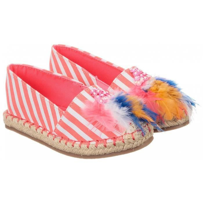 Chaussures espadrilles rayé - Rose - 30