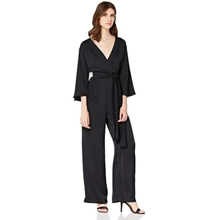 Robe Mio09 Amazon Brand Combinaison De Soiree A Manches Courtes Taille 36 Noir Achat Vente Robe Cdiscount