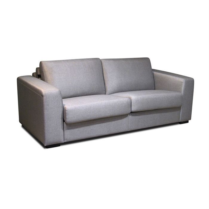 pronto canap convertible 3 places gris chin achat vente canap sofa divan tissu coton. Black Bedroom Furniture Sets. Home Design Ideas