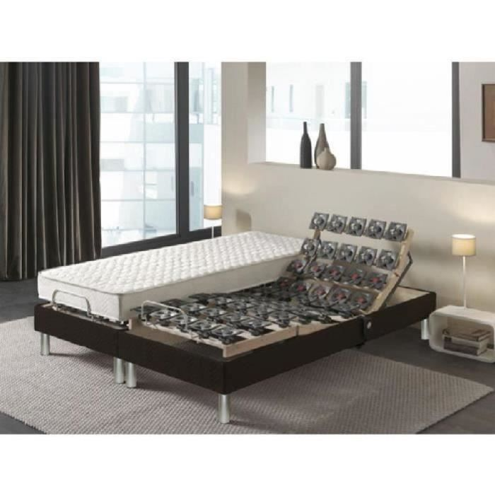 technica ensemble matelas sommiers 2x80x200 cm mousse. Black Bedroom Furniture Sets. Home Design Ideas