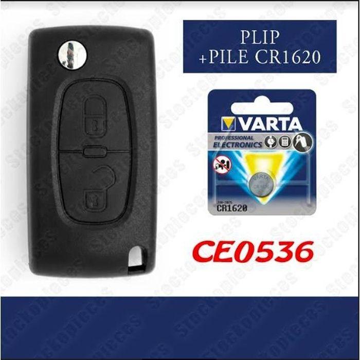 Coque cl/é plip t/él/écommande 2 bouton Peugeot 107 207 307 308 407 Sans Rainure