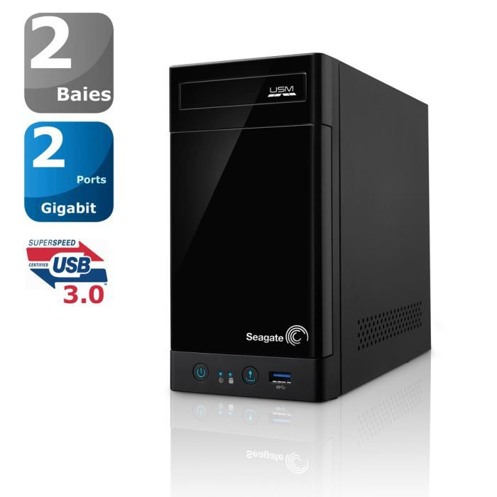 seagate bo tier serveur nas 2 baies 4to achat vente disque dur externe seagate bo tier. Black Bedroom Furniture Sets. Home Design Ideas