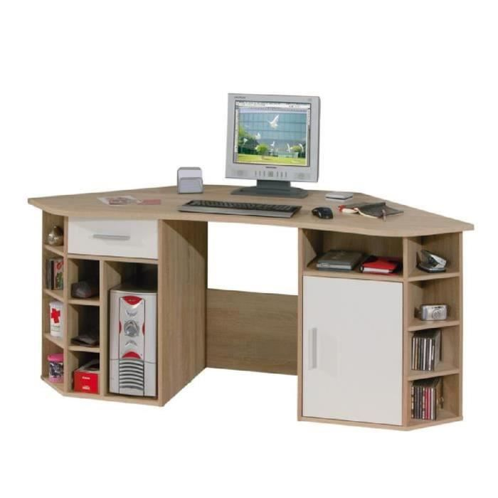 bureau d 39 angle vasto 1 porte 1 tiroir ch ne de sonoma achat vente bureau bureau d 39 angle. Black Bedroom Furniture Sets. Home Design Ideas