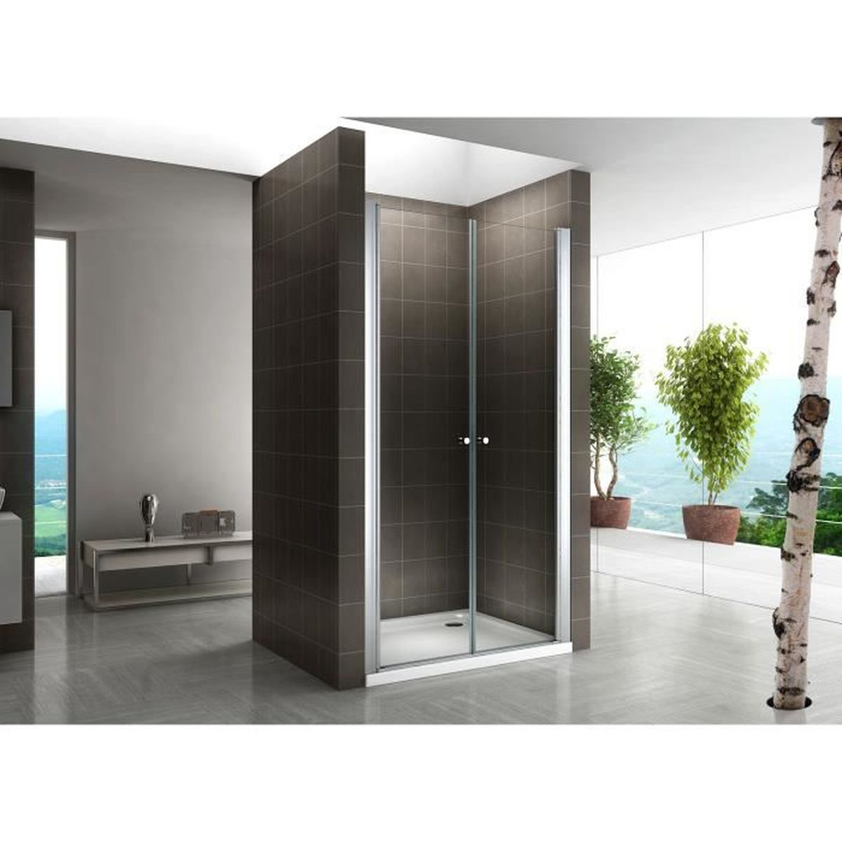 porte douche 72 achat vente pas cher. Black Bedroom Furniture Sets. Home Design Ideas