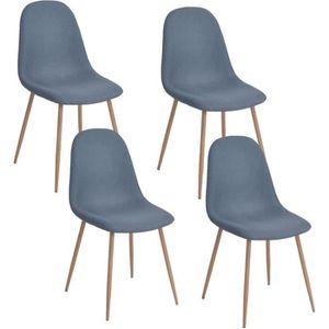 CHAISE CHARLTON Lot de 4 chaises de salle à manger - Méta