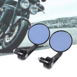 1 Paire 7//8 Universel Moto R/étroviseurs Lat/éraux Chrom/é avec Embout de Guidon Moto Moto Vue Arri/ère Miroirs