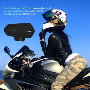 INTERCOM MOTO QTBE6 Casque de moto Casque d'écoute Bluetooth Sys