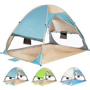 TENTE DE CAMPING Tente Pop Up de Plage Familiale Anti UV, Automatiq