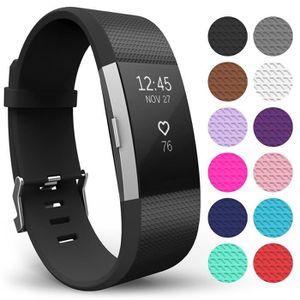 TÉLÉPHONE FACTICE Bracelet à bretelles Fitbit Charge2 Taille: L Noir
