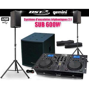 PACK SONO Pack Sono triphoniques 2.1 SUB 600W + Lecteur CD