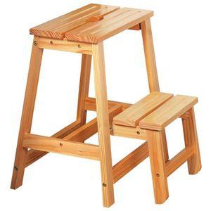 ECHELLE Escabeau, échelle pliante, 2-in-1 tabouret en bois