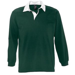 POLO Polo rugby manches longues HOMME - 11313 - vert