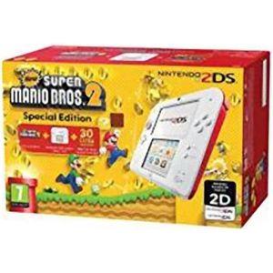 CONSOLE 2DS Console Nintendo 2 Ds Blanc Rouge + New Super Mari