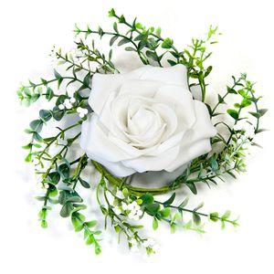 REF//DEK0075 HOBI Centre de Table flamand Rose Vintage Bois 15cm x1