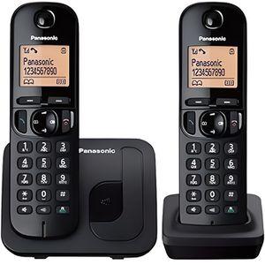 Téléphone fixe PANASONIC téléphone DECT duo noir sans répondeur