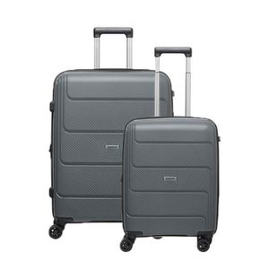SET DE VALISES Lot de 2 valises rigides Lafe 77 et 55 cm Grey GRE