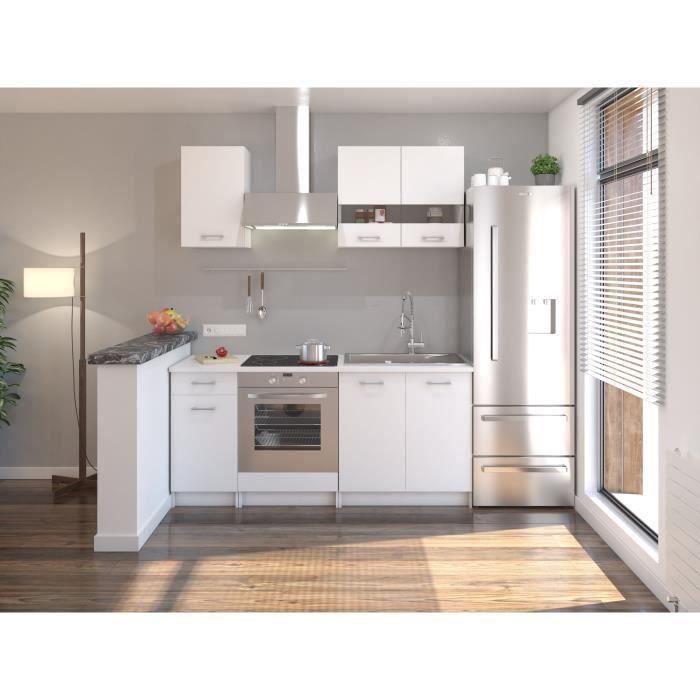 EXTRA Cuisine complète 5 éléments - 180 cm - Blanc Mat