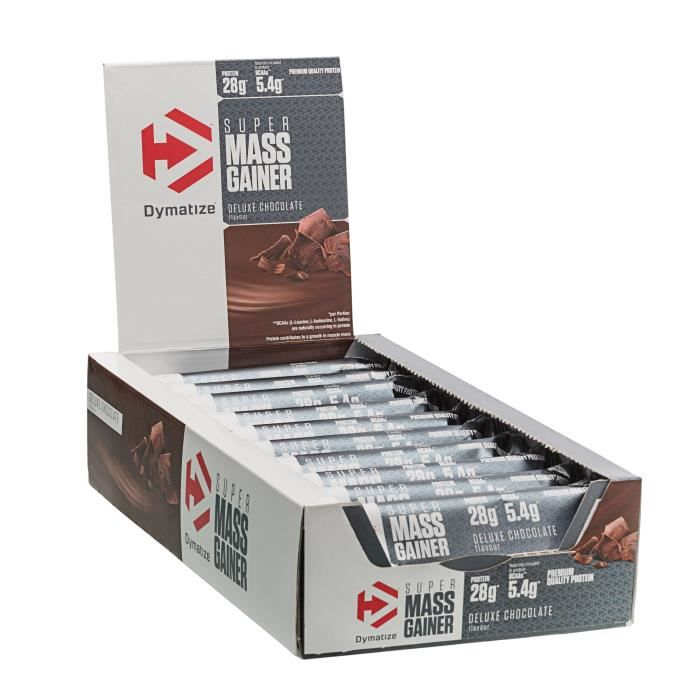 DYMATIZE Lot de 10 barres Super Mass Gainer - Chocolat - 90 g