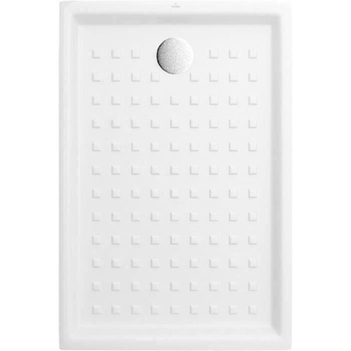 VILLEROY & BOCH Receveur de douche rectangulaire à poser O.novo - 120 x 80 cm - Céramique - Blanc