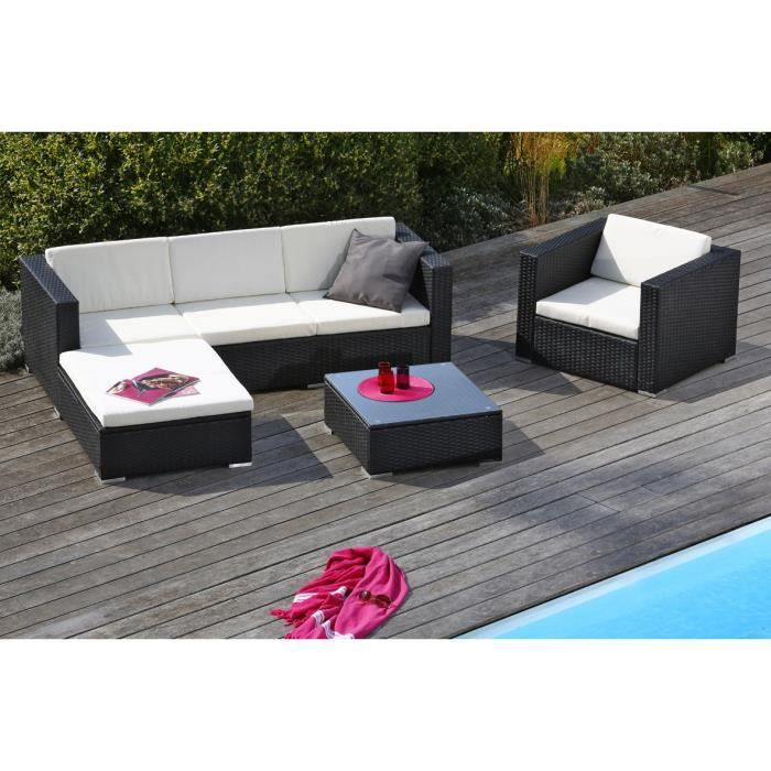 goa salon de jardin en r sine tress e achat vente. Black Bedroom Furniture Sets. Home Design Ideas