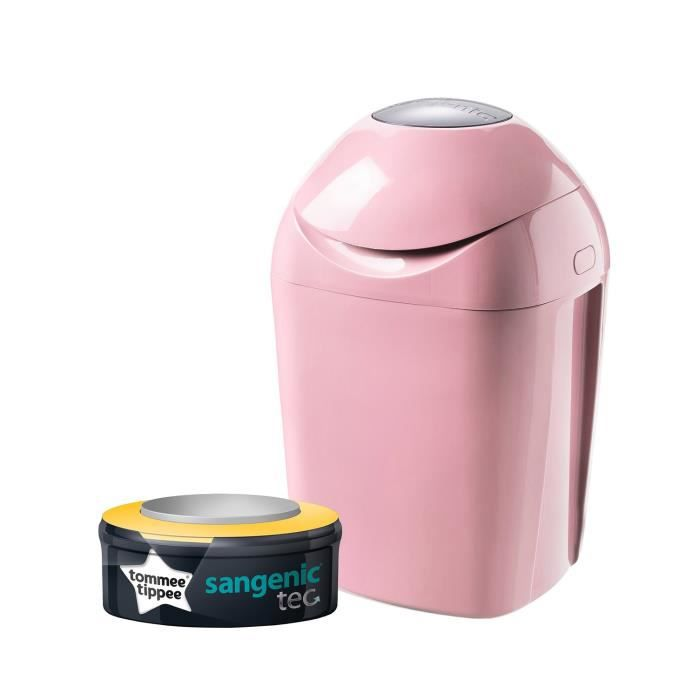 TOMMEE TIPPEE Sangenic Poubelle à Couches TEC Rose