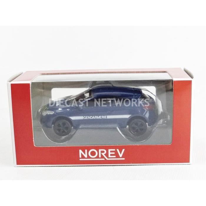 Voiture Miniature de Collection - NOREV 1/64 - RENAULT Megane Coupe Gendarmerie - Blue / Blmanc - 319211_MEGGEND