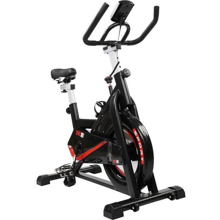 vélo biking Vélo d'appartement spin bike Intérieur aerobie spining Vélo Rouge et noir