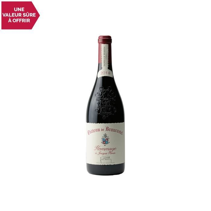 Châteauneuf-du-Pape Hommage à Jacques Perrin Rouge 2014 - 75cl - Château de Beaucastel - Vin AOC Rouge de la Vallée du Rhône -