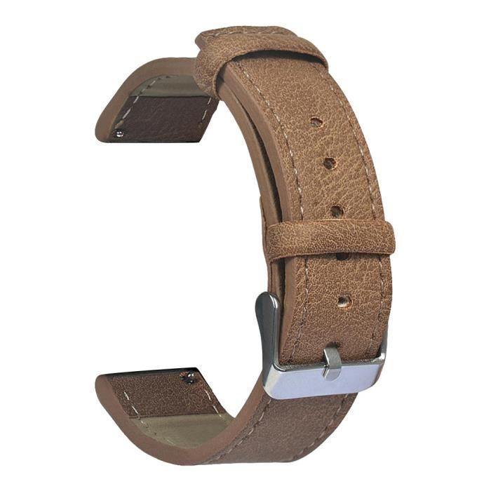 bracelet de montre vendu seul Bracelet de remplacement en cuir rétro pour montre Huami Amazfit Bip Youth Lite FQQ90604106BW_non