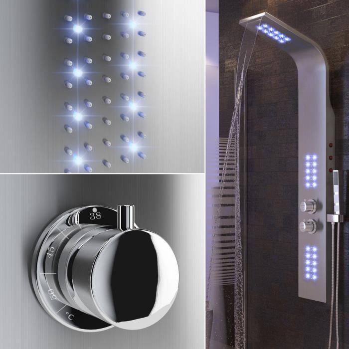 Panneau Douche LED robinet de douche cascade Thermostat