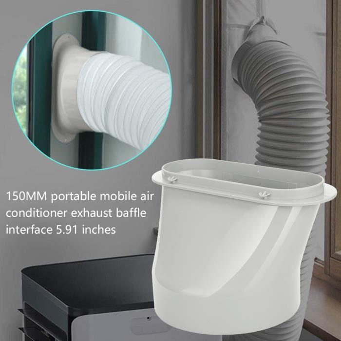 Kit de tuyau d'échappement de climatisation portable joint de tuyau d'adaptateur de fenêtre de 5,91 pouces 11 - hanshiko